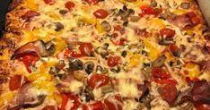 · Πίτσα για βραδινό αλλά και ότι ώρα θέλουμε !!! Για τη ζύμη Ένα σακουλάκι μαγιά ξερή Μια κουταλιά ζάχαρη Μια φλυτζάνα χλιαρό γά... Hawaiian Pizza, Gymnastics, Food, Fitness, Essen, Meals, Physical Exercise, Calisthenics, Ejercicio