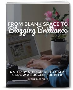 How to Start A Blog. A Step by Step Guide From Blank Space to Blogging Brilliance by @blm