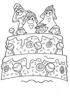 Free Veggie Tales Coloring Book Pages