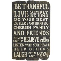 Thankful Wall Decor