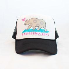 California Love Trucker Hat in Black