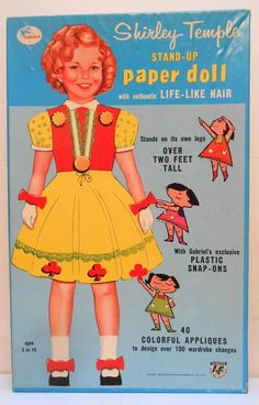 1958 Gabriel Shirley Temple Snap-on paper dolls