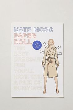 Kate Moss Paper Doll Book