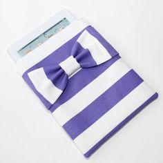 Purple Bow iPad Case