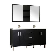 Looking for Bathroom Vanity? Alya Bath Ripley Double Modern Bathroom Vanity Wavy Sink in Black without Mirror Best Bathroom Vanities, Single Bathroom Vanity, Modern Bathroom, Bathroom Ideas, Classic Bathroom, Sinks, Complete Bathrooms, Amazing Bathrooms, Square Sink