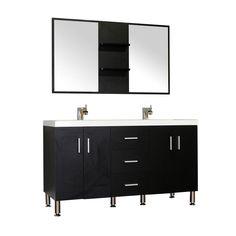 Looking for Bathroom Vanity? Alya Bath Ripley Double Modern Bathroom Vanity Wavy Sink in Black without Mirror Vanity Set With Mirror, Bathroom Vanity, Modern Bathroom, Bathroom Decor, Vanity, Complete Bathrooms, White Marble Countertops, Modern Bathroom Vanity, Dream Bathroom Vanity