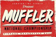 Muffler Brush Hand Lettering font by Konstantine Studio on @creativemarket