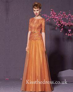 Orange Lace Sequins