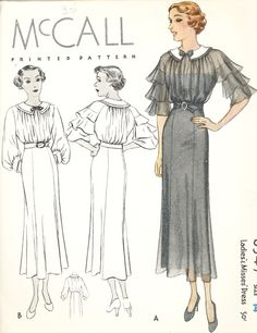 McCall 8347 | 1935 Ladies' & Misses' Dress