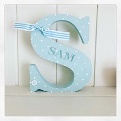 Simple dots look so pretty on these freestanding letters from Rhubarb and Custard Crafts
