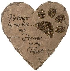 Item Number: 10136 Dimensions: 10.00 x 9.00 x 1.00 inches The Carson Home Accents Pet Bereavement - Garden Stone displays long-lasting love for your beloved pet. Showcasing a paw embellishment with a