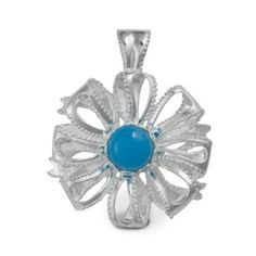 Carolyn Pollack Sterling Silver Blue Chalcedony Bow Pendant Enhancer >>> Read more reviews of the product by visiting the link on the image. (This is an affiliate link and I receive a commission for the sales)