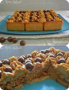Rica tarta de galletas con mousse de dulce de leche