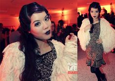 Retro Outfit Post! ♥    I channeled Bettie Page & wore this leopard dress to a 1920s flapper party...  Are you enjoying my Art Deco Weekend Miami posts?    http://www.lacarmina.com/blog/2013/03/flapper-fashion-hairstyle-1920s-vip-gala-art-deco-weekend/     miami gothic, miami goths, goth party miami florida, florida goths, gothic florida clubs, goth girl miami