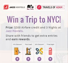 Win a Trip to New York City! Worldwide Giveaway!