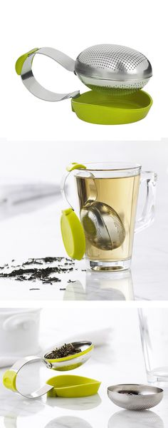 Clip on tea infuser