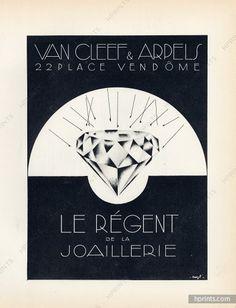 Van Cleef & Arpels 1928  Diamond, Lithograph PAN Paul Poiret