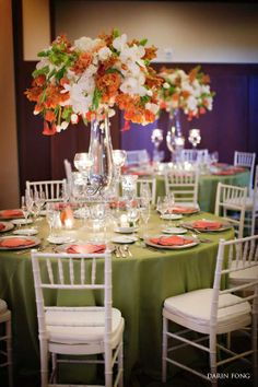 Tall Centerpiece orange green