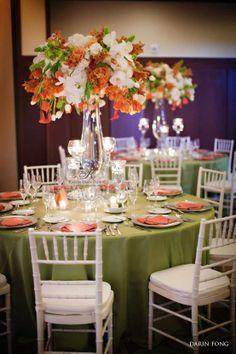 Tall Centerpiece orange green