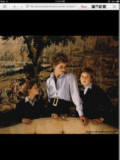 Absolutely stunning photo of Princess Diana and her two sons