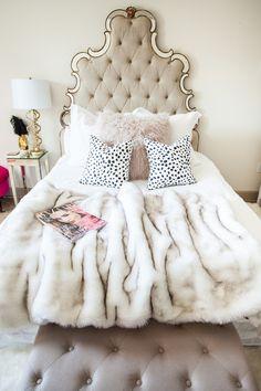Glamorous bed.