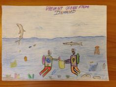 Hasaan Aufu Azuwan - Age 6 Drawing Competition, Ocean Day, Marine Conservation, Oceans Of The World, Age, Drawings, School, Sketches, Drawing