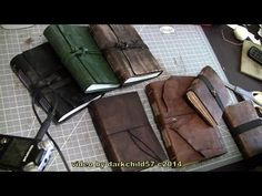 I show you the process that I go through to make a complete leather journal. recommended materials: leather (or faux leather, old pair of jeans, cardboard......