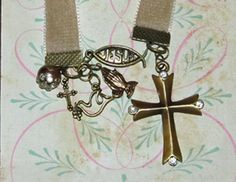 Ribbon Bookmark, Velvet, Christian Faith, Choose Your Own Ribbon Color. $12.00, via Etsy.