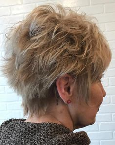 Short Spiky Hairstyle For Mature Women
