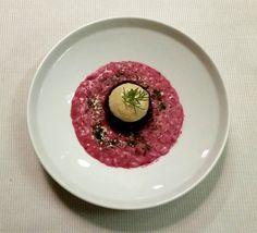 L'ombelico del mondo: Risotto alla siciliana, con arance, bergamotto, mandorle tostate e pesto di finocchietto  ristorante JOIA Milano