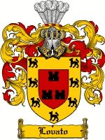 Lovato Coat of Arms / Lovato Family Crest  The associated coat of arms for this name are recorded in J.B Rietstaps Armorial General. Illustr...