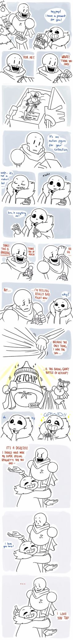 Sans and Papyrus - comic - Christmas