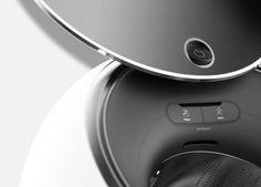 Check this out on leManoosh.com: #Black #Button #Ergonomics #Minimalist #Rounded #Washing machine #White