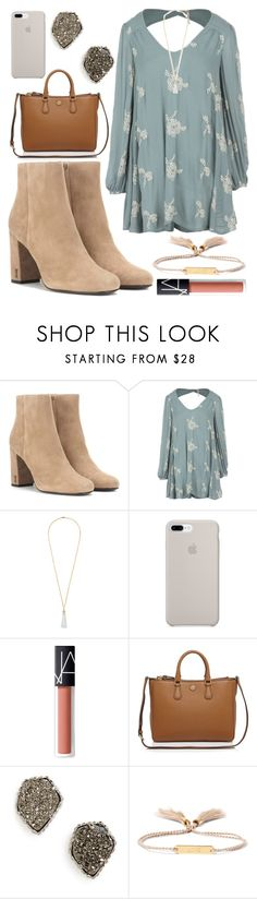 """Young wild and free"" by jadenriley21 ❤ liked on Polyvore featuring Yves Saint Laurent, Free People, Eddie Borgo, NARS Cosmetics, Tory Burch, Kendra Scott and Chloé"