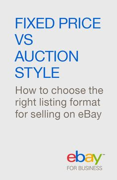 Fixed Price, Best Offer or Auction-Style? Picking the right listing format is critical to getting your item sold, so how do you know which format is best for your item? Well, read on! We looked at eBay data about buyer behavior, what makes a successful sale and compared selling formats to develop our best guidance on how to decide between fixed price, Best Offer or auction-style listings. And we are sharing the results - which may actually surprise you!