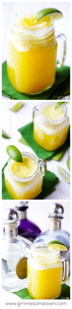 Fresh Pineapple Margaritas -- Easy to make, fresh, and SO good. | gimmesomeoven.com