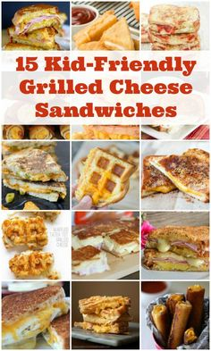 15 Kid-Friendly Grilled Cheese Sandwiches -- a great way to transition from basic grilled cheese to gourmet. Perfect for pickier palates! | isthisreallymylife.com
