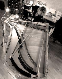 PLEYEL 1890   Montages des cordes
