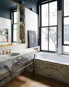 Top The most inspiring spaces we've seen this season bathroom decor ideas, marble bathroom - Marble Bathroom Dreams Gorgeous Bathroom, Marble Bathroom, Bathroom Interior Design, Marble Trend, Bathroom Trends, Room Inspiration, Bathroom Decor, Easy Bathroom Decorating, Dark Grey Walls