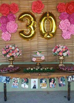 Happy Birthday Wishes Cards, Happy 30th Birthday, Adult Birthday Party, Birthday Table, 30th Birthday Parties, Birthday Woman, 30th Birthday Ideas For Women, 21st Bday Ideas, 30th Birthday Decorations