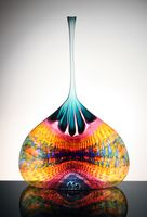 Available glass sculptures by Stephen Powell for sale. Stephen Rolfe Powell, well known glass artist. Art Of Glass, Glass Ceramic, Vases Decor, Glass Design, Clay Crafts, Hand Blown Glass, Oeuvre D'art, Stephen Powell, Colored Glass