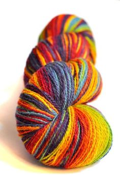Kauni Wool Yarn, 2ply, Selfstriping Rainbow, Sock Yarn Kauni