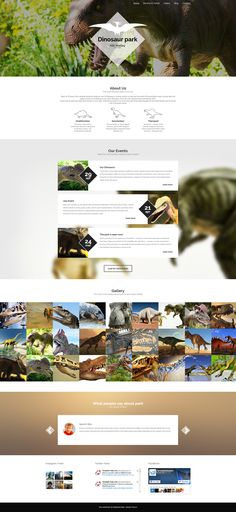 This <b>dinosaur museum WordPress theme</b> makes use of <em>rhombic shapes</em> that can add zest to your website's look. They are applied to a logo laid over a <em>full-screen header</em>, dates ...