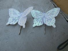 Winter Butterfly bobby pins by Shelithas on Etsy, $4.99