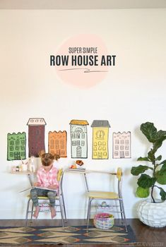 Create these amazing Row Houses with your Cricut!  Kids love these cute and decorative Row Houses!