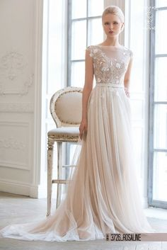 dca907e6db6a Wedding dress in soft Champagne and off white colour -
