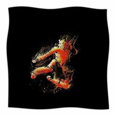 "East Urban Home 'Strong Fighter' By BarmalisiRTB Fleece Blanket Size: 80"" L x 60"" W x 1"" D"