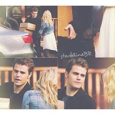 Olhar encantador e fofo, de Stefan para Caroline. #Steroline #Stefan #Caroline #thevampirediaries #diariosdeumvampiro #Brasil