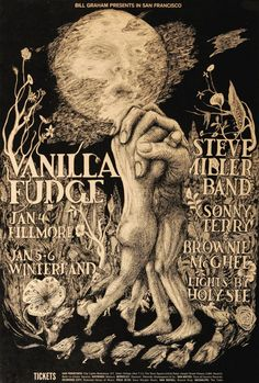 Vanilla Fudge, Steve Miller Band with Sonny Terry & Brownie McGee. Poster by Lee Conklin.