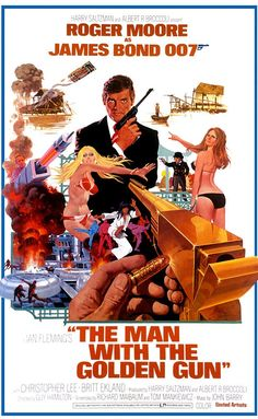 The Man with the Golden Gun (1974) Directed by Guy Hamilton.  With Roger Moore, Christopher Lee, Britt Ekland, Maud Adams. Bond is led to believe that he is targeted by the world's most expensive assassin and must hunt him down to stop him.